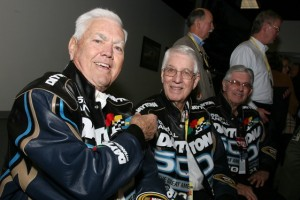 Junior Johnson joined Glen and Leonard Wood at Daytona last year. (Photo by Jerry Markland/Getty Images for NASCAR)