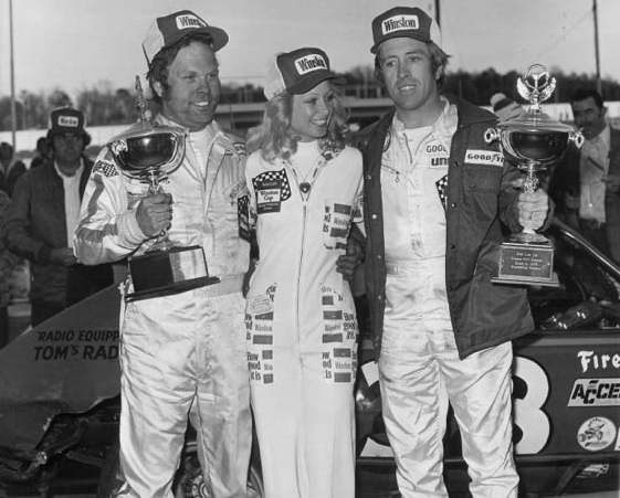 In this corner in the 'Battle for Rome' was Jerry Cook, left. (Photo courtesy of NASCAR)