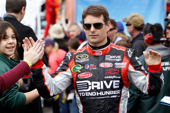 Jeff Gordon has one more chance to win won more championship. (File photo by Todd Warshaw/Getty Images for NASCAR)