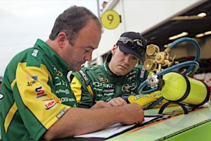 Paul Menard and crew chief Slugger Labbe. (RacinToday/HHP file photo by Alan Marler)