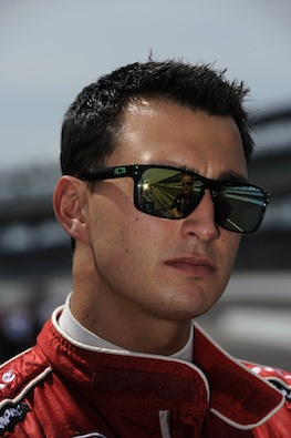 Graham Rahal can overtake Montoya at the Pocono triangle this weekend. (INDYCAR/LAT USA)