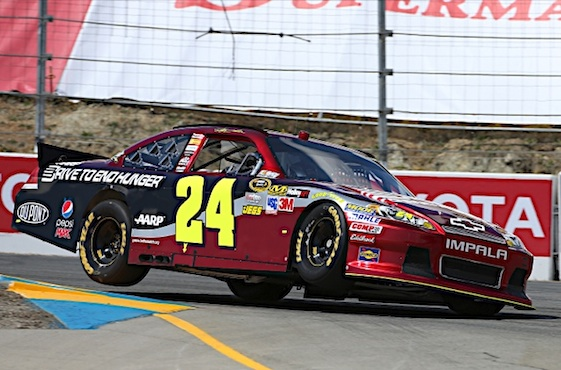 Jeff Gordon's days of curb hopping will come to an end this weekend. None have done it better in NASCAR. (RacinToday/HHP file photo by Harold Hinson)