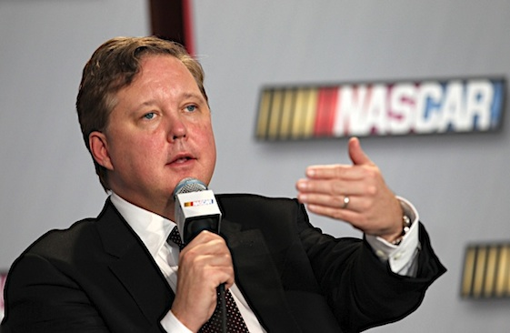 NASCAR chairman and CEO Brian France and NASCAR's owners have given a lucrative gift to team owners. (RacinToday/HHP file photo by Harold Hinson)