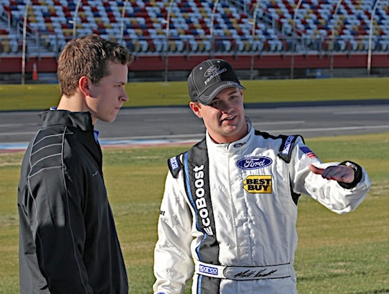 Trevor Bayne, left, and Ricky Stenhouse Jr. hope to get Roush Fenway Racing back on the winning track. (RacinToday/HHP file photo by Harold Hinson)