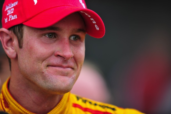 Ryan Hunter-Reay won at Pocono on Sunday. His celebration, however, was muted by a wreck involving teammate Justin Wilson. (INDYCAR/LAT USA file photo)