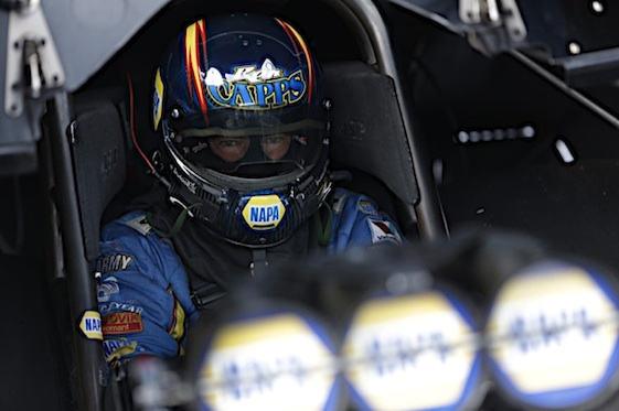 Ron Capps is in the win column.  (RacinToday/HHP file photo)