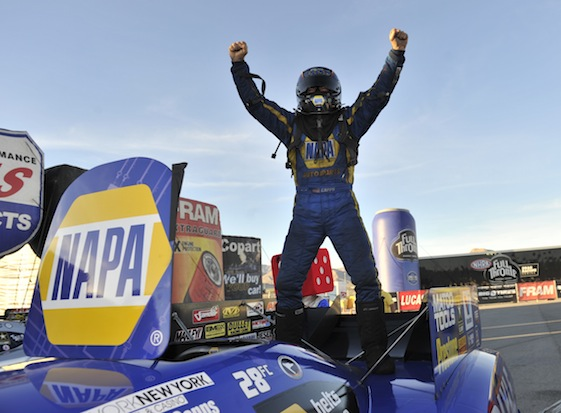 Ron Capps leads Don Schumacher Racing into this weekend's Funny Car racing in Texas. (File photo courtesy of the NHRA Full Throttle Drag Racing Series)