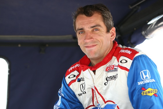 Justin Wilson died Monday of injuries suffered during Sunday's race in Pennsylvania. (File photo courtesy of the IZOD IndyCar Series)