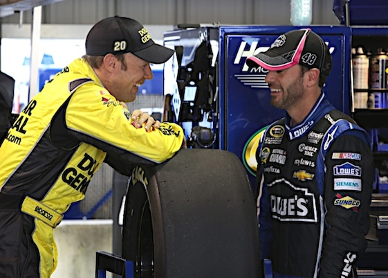 Photo of Matt Kenseth & his friend driver  Jimmie Johnson - NASCAR