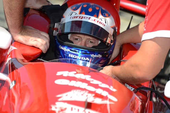 Scott Dixon, a non factor in previous IndyCar Series races this year, got his first win in Long Beach on Sunday.