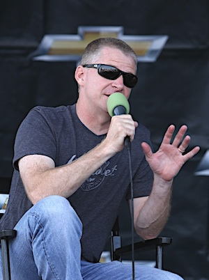 Jeff Burton is on the other side of the microphone these days. (RacinToday/HHP file photo by Christa L Thomas)