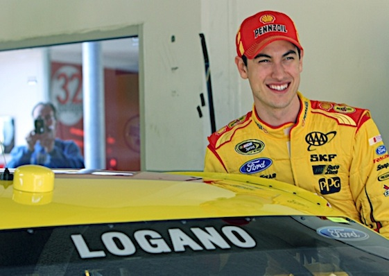 Joey Logano got hit first victory of the Chase on Sunday and nailed a berth in third round of the playoffs. (RacinToday/HHP file photo by Alan Marler)