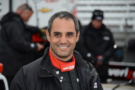 Juan Pablo Montoya put Roger Penske back in Victory Circle at Indy on Sunday. (File photo courtesy of INDYCAR)