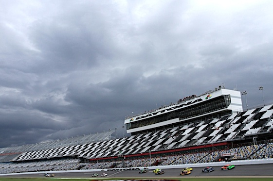 Daytona International Speedway suffered damage from Hurricane Matthew, speedway operators said. (RacinToday/HHP file photo by Christa L Thomas)