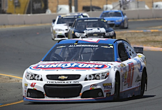 AJ Allmendinger will be with JTG Daugherty Racing for five more years. (RacinToday/HHP file photo by Christa L Thomas)