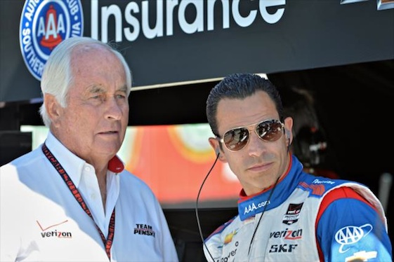 Team Penske driver Helio Castroneves has big plans for May and Indy. (Photo courtesy of the Verizon IndyCar Series)