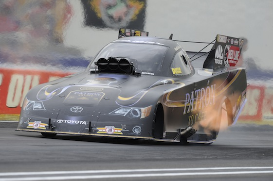 Alexis DeJoria is looking for a repeat victory at the NHRA's U.S. Nationals this weekend. (Photo courtesy of the NHRA)