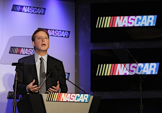 Brian France says teams in drivers and all of NASCAR's premier series will be 'chasing' championships this year. (RacinToday/HHP file photo by Andrew Coppley)