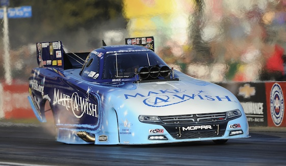 Tommy Johnson Jr. is making big noises in the NHRA's Funny Car division.