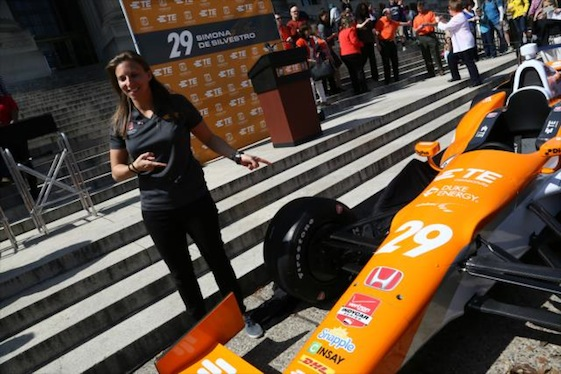 Simona de Silvestro will be behind the wheel of the No. 29 Andretti Autosport Honda in New Orleans. (Photo courtesy INDYCAR)