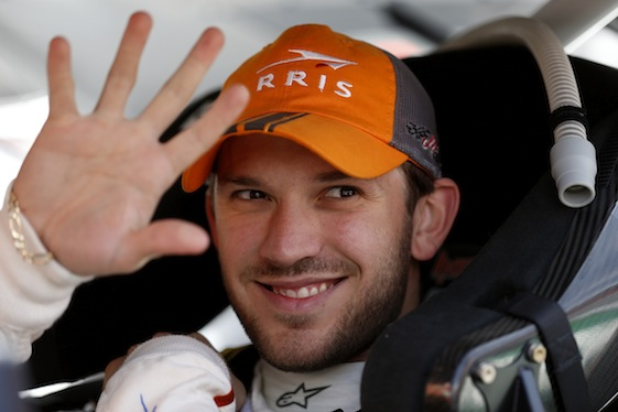 Daniel Suarez captured the Truck Series win on Friday night. (File photo courtesy of NASCAR)