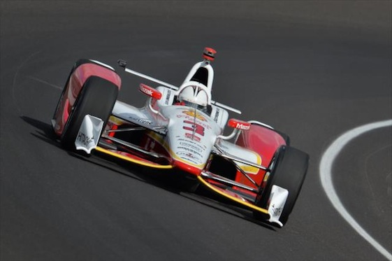 Helio Castroneves was one of those who was involved in dramatic wrecks at Indy.