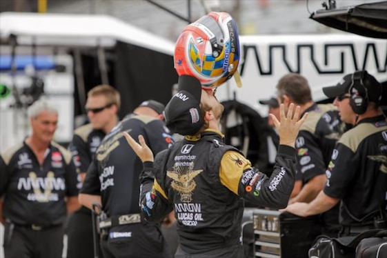 IndyCar Series driver James Hinchcliffe hopes to be back in the paddock and cockpit before the end of the season. (Photos courtesy of the Verizon IndyCar Series)
