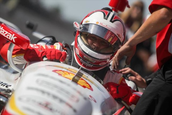 Helio Castroneves had a day to forget at Indianapolis Motor Speedway on Wednesday.