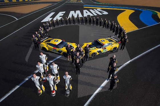The Chevrolet Corvette Racing C7.Rs qualified 1-2 at VIR. (File photo by Richard Prince for Chevy Racing)