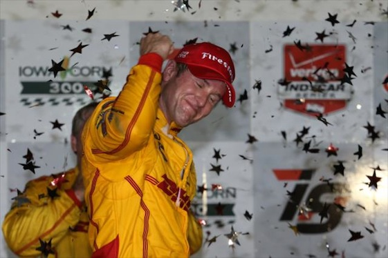 Ryan Hunter-Reay ended a season-long slump on Saturday night when he won the IndyCar Series race in Iowa. (Photo courtesy of the Verizon IndyCar Series)
