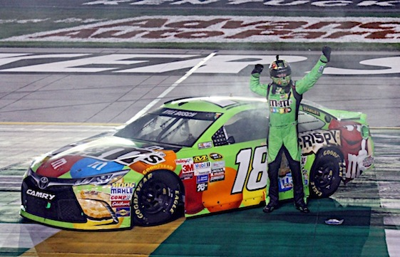 Kyle Busch had a blast in Kentucky on Saturday night. (RacinToday/HHP photo by Alan Marler)
