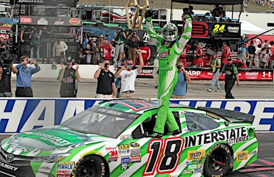 Kyle Busch's remarkable post-injury Chase chase saw him win at New Hampshire Motor Speedway on Sunday. (RacinToday/HHP photo by Alan Marler)