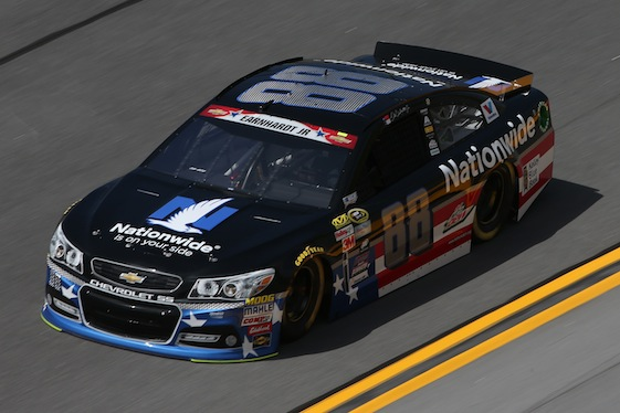 Dale Earnhardt Jr. got off to a fast start in Daytona on Friday.  (Photo by Chris Graythen/Getty Images)