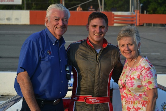 Robbie Allison – with the blessings of grandfather and NASCAR Hall of Famer Bobby Allison and grandmother Judy – is carrying on the family business. (Photo courtesy of Liz Allison)