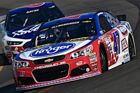 07 August 2015:    AJ Allmindinger made the Chase a year ago by driving to victory at the Watkins Glen International road course. Allmendinger hopes to do the same thing this year. (RacinToday/HHP photo by Rusty Jarrett)