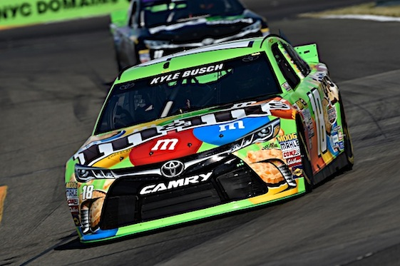Kyle Busch has become a solid road racer. At Watkins Glen on Sunday, he will attempt to win his second road race of the season. (RacinToday/HHP photo by Rusty Jarrett)