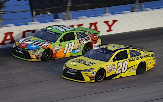 Kyle Busch will join Joe Gibbs Racing teammate Matt Kenseth in this year's playoffs. (RacinToday/HHP photo by Harold Hinson)
