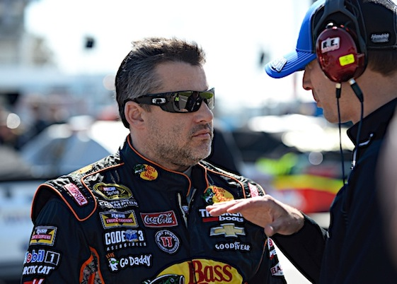 Tony Stewart answered questions about his team's move from Chevrolet to Ford on Wednesday. (RacinToday/HHP file photo by David Tulis)