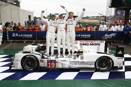 Nick Tandy, left, co-drove a Porsche 919 Hybrid to victory at Le Mans this year. Sharing the wheel were Earl Bamber and Nico Hulkenburg. (Photos courtesy of Porsche North America)