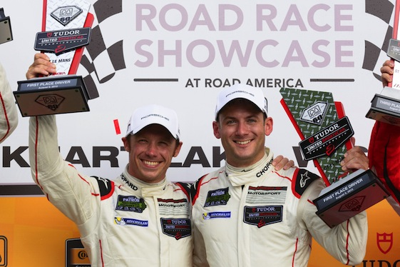 Patrick Pilet and Nick Tandy were GT Le Mans winners at Road America this year. They're in the 911 again in America this weekend.