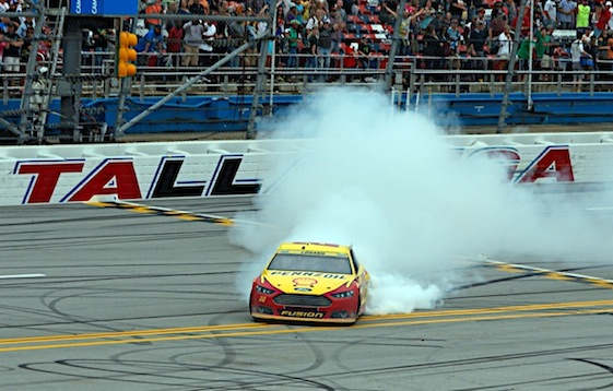 A lot of people are smoking mad at Joey Logano these days. (RacinToday/HHP photo by Alan Marler)