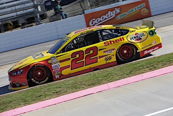 Joey Logano won in overtime at Phoenix on Sunday and earned a berth in next weekend's championship-deciding Championship 4 race. (RacinToday/HHP file photo by Harold Hinson)