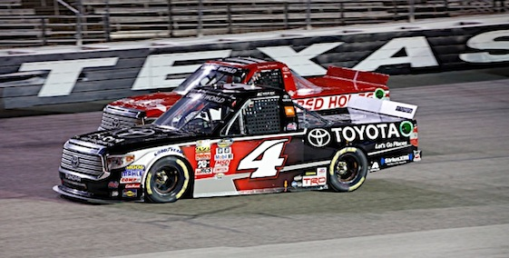Erik Jones kicked off his three-race Texas trip with a victory on Friday night. (RacinToday/HHP photo by Alan Marler)
