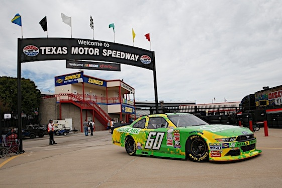 Chris Buescher hopes to have a really happy homecoming Saturday at Texas Motor Speedway. (RacinToday/HHP photo by Gregg Ellman)