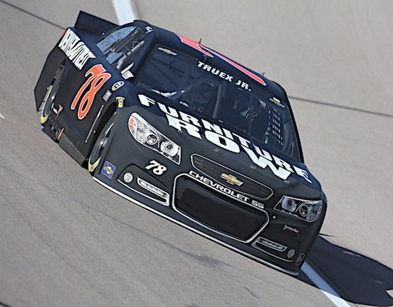 Martin Truex Jr. earned the pole for Sunday's race at Talladega Superspeedway on Saturday. (RacinToday/HHP file photo by Harold Hinson)
