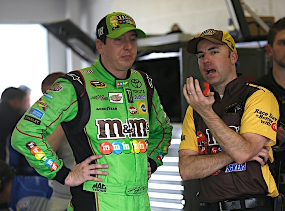 Kyle Busch will start Sunday's grand finale in Homestead as the top Chaser and with teammate Denny Hamlin on the pole. (RacinToday/HHP photo by Harold Hinson)