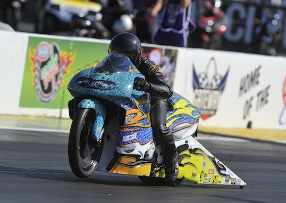 Jerry Savoie is riding high in the NHRA Countdown.