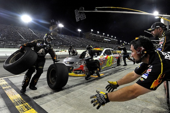 The night time was not the right time for Jeff Gordon and his Hendrick Motorsports team. (Photo by Jared C. Tilton/NASCAR via Getty Images)