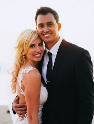 Courtney Force and Graham Rahal have tied the knot.