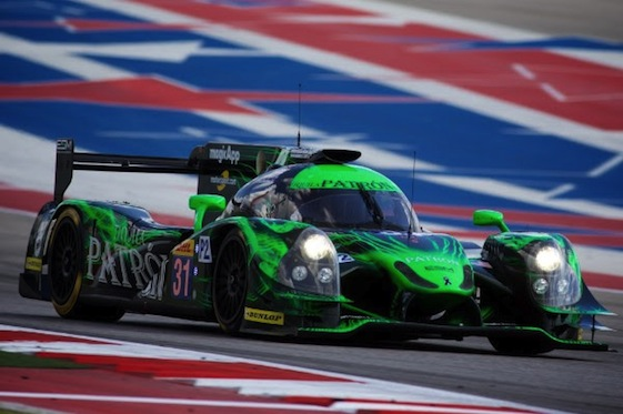 "Luis Felipe ""Pipo"" Derani drove the Patron EMS Ligier to top spot on the time sheets during the final day of the Roar Before the Rolex 24 on Sunday."